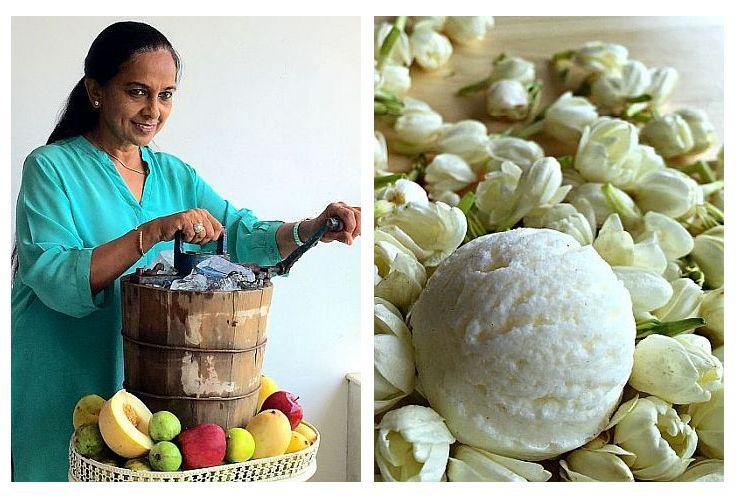 Bina Doshi hand-churns her artisanal ice creams