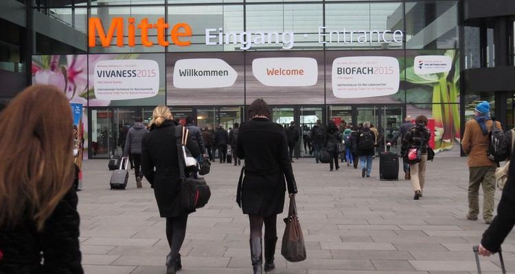 Main entrance to BioFach/Vivaness 2017