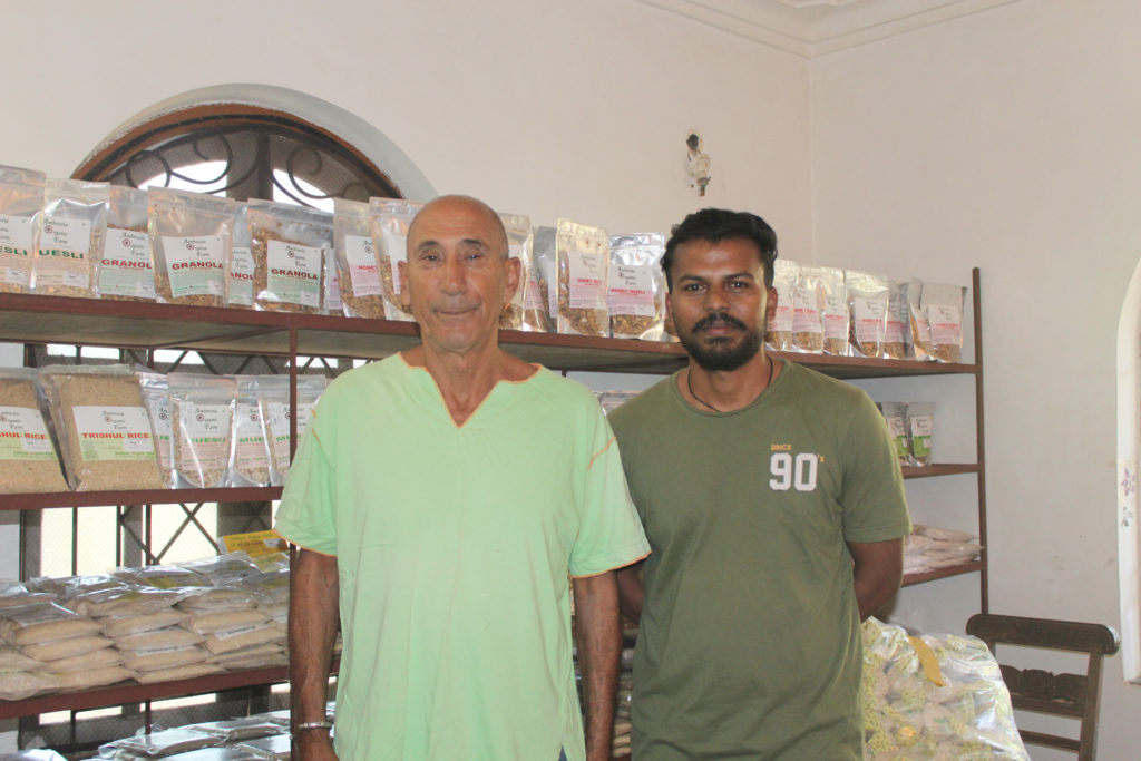 David Gower, founder, Ambrosia Organic Farm (left) with John Dmello, General Manager, Ambrosia Organic Farm - © Pure & Eco India