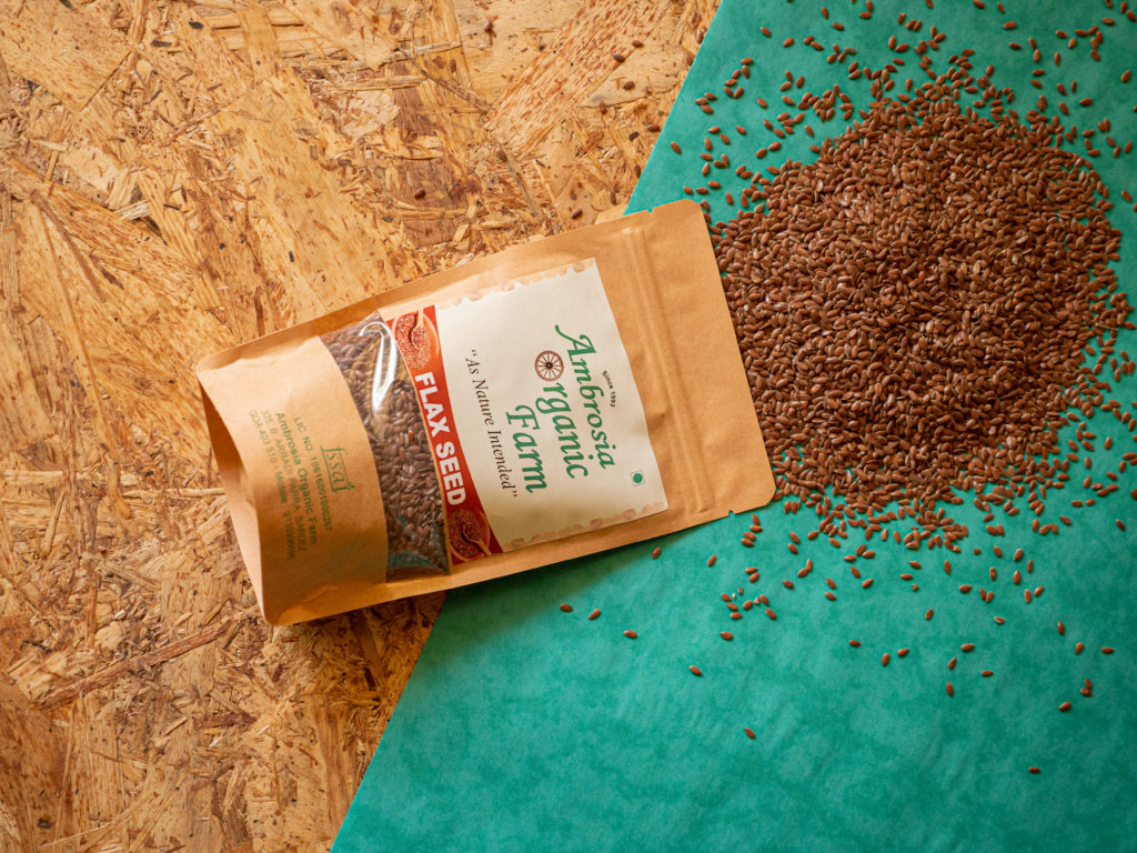 Organic flax seeds from Ambrosia Organic Farm - Pure & Eco India