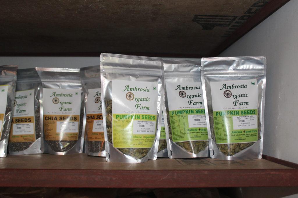 Organic pumpkin seeds & organic chia seeds from Ambrosia Organic Farm - © Pure & Eco India