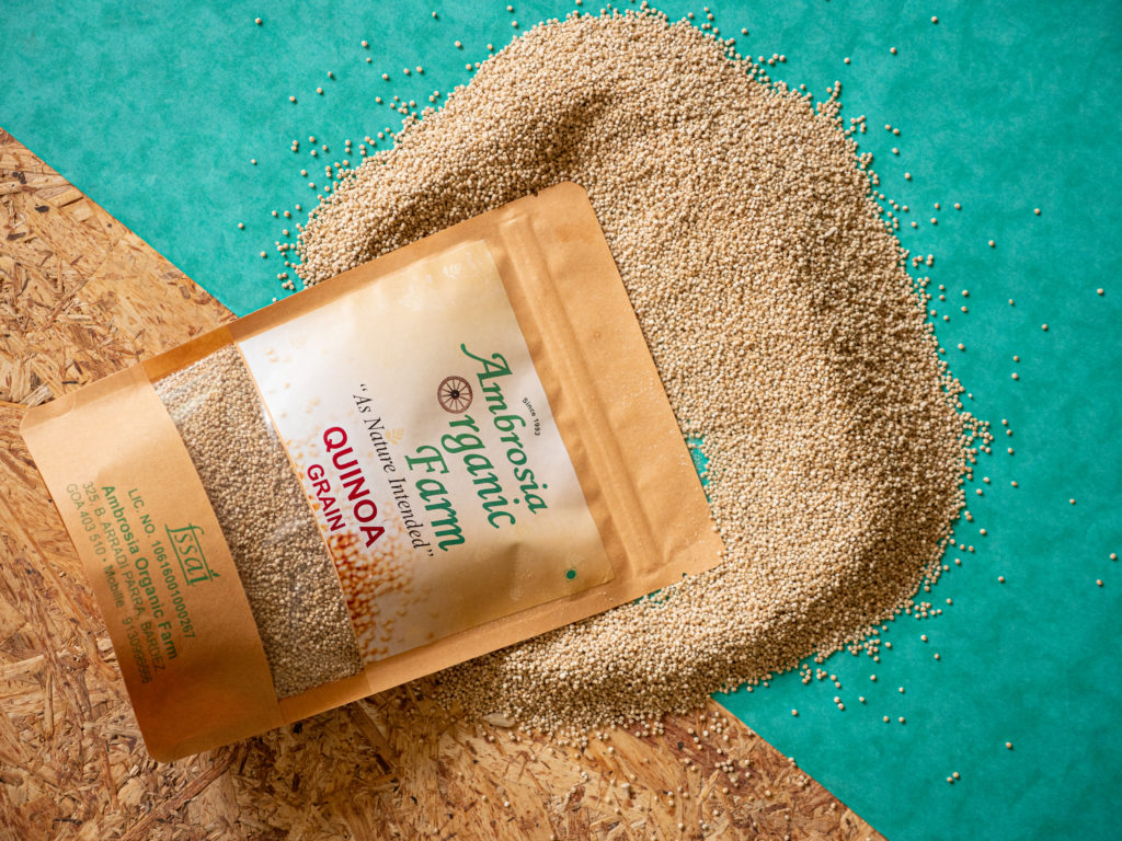 Organic quinoa from Ambrosia Organic Farm - Pure & Eco India