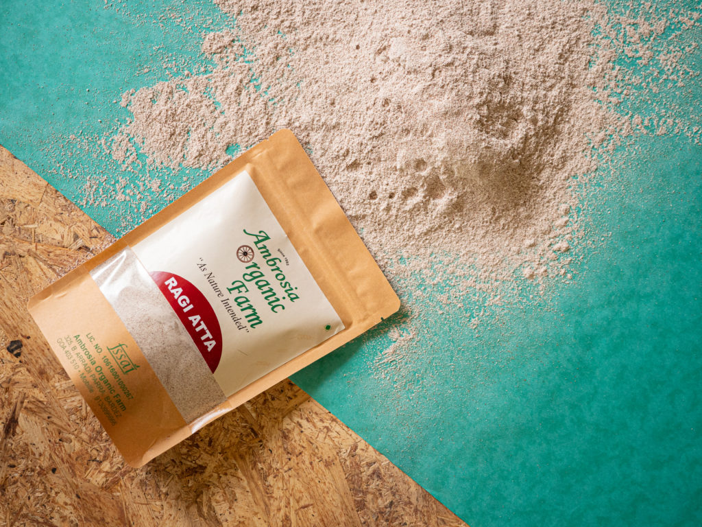 Organic ragi flour from Ambrosia Organic Farm - Pure & Eco India